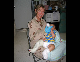 A combat trauma nurse focuses on her own recovery