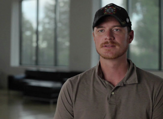 Aaron learned strategies to manage PTSD symptoms