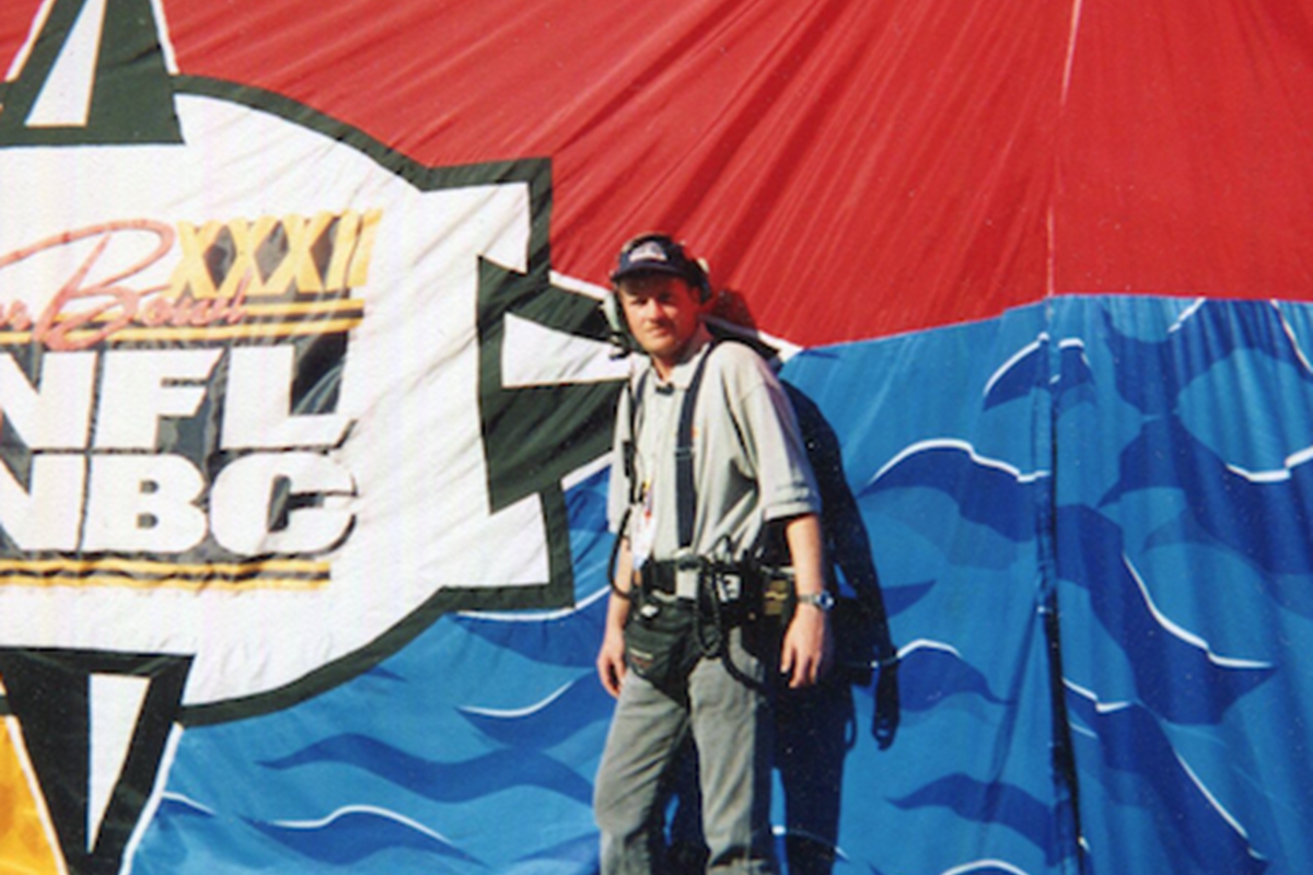 Bill, a former forensic photographer in the U.S. Navy, worked Super Bowl XXII in San Diego, California